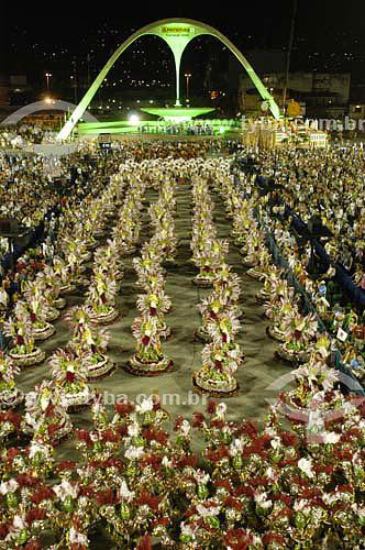 Escola de Samba Unidos do Viradouro - Desfile de carnaval na Marquês de Sapucaí - Sambódromo - Rio de Janeiro - RJ - Brasil - Carnaval 2006  - Rio de Janeiro - Rio de Janeiro - Brasil