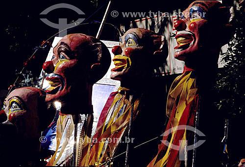 Detalhes de bonecos de um carro alegórico do carnaval - Rio de Janeiro - RJ - Brasil  - Rio de Janeiro - Rio de Janeiro - Brasil