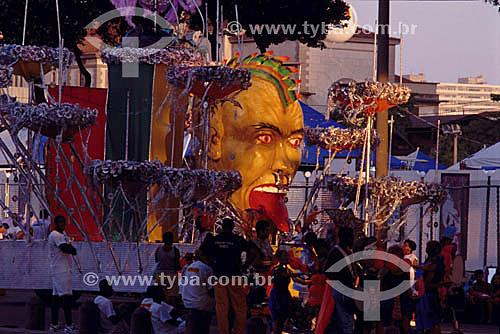 Carro alegórico - Carnaval - Rio de Janeiro - RJ - Brasil  - Rio de Janeiro - Rio de Janeiro - Brasil