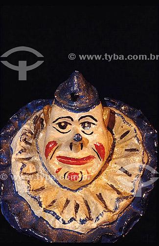 Palhaço - Máscara alegórica de Carnaval  - Rio de Janeiro - Rio de Janeiro - Brasil