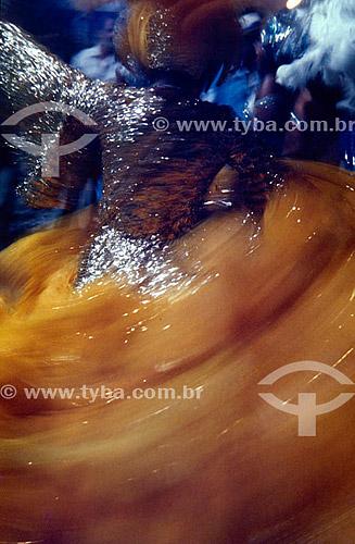 Baiana dançando - Carnaval - Rio de Janeiro - RJ - Brasil  - Rio de Janeiro - Rio de Janeiro - Brasil