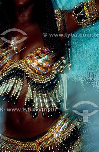Passista da Mangueira - Carnaval - Rio de Janeiro - RJ - Brasil  - Rio de Janeiro - Rio de Janeiro - Brasil