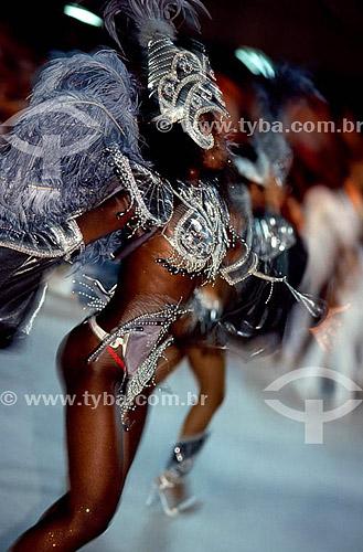 Passista - Carnaval - Rio de Janeiro - RJ - Brasil  - Rio de Janeiro - Rio de Janeiro - Brasil