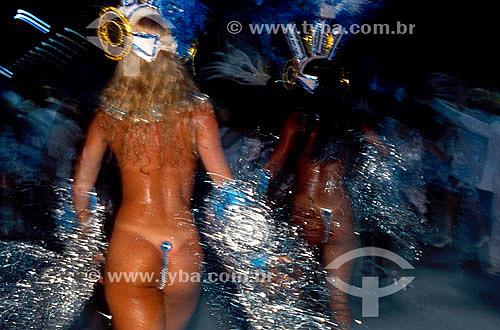 Passistas no Carnaval - Rio de Janeiro - RJ - Brasil  - Rio de Janeiro - Rio de Janeiro - Brasil