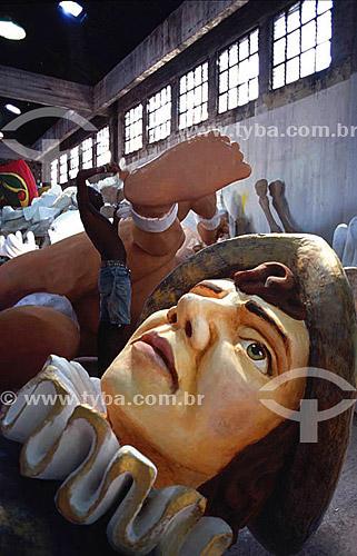 Carnaval - barracão - preparativos - Rio de Janeiro - RJ - Brasil  - Rio de Janeiro - Rio de Janeiro - Brasil