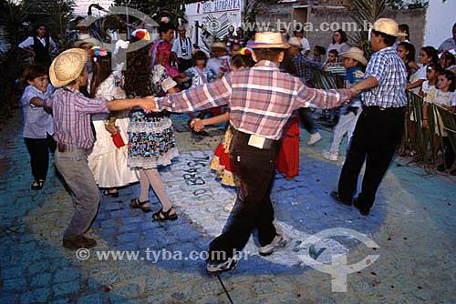 Quadrilha em Festa Junina de Campina Grande - Paraíba - Brasil - Data: 2003