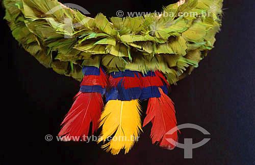 Artesanato da nação indígena Caiapó - PA - Brazil  - Pará - Brasil