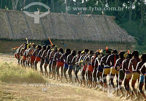 Indios Caiapó - Festa do Jabuti - PA - Brasil  - Pará - Brasil