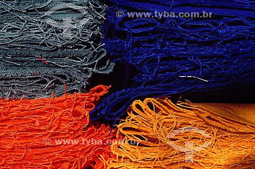 Pedaços de tecido - Fábrica de tecidos - RJ - Brasil  - Rio de Janeiro - Brasil