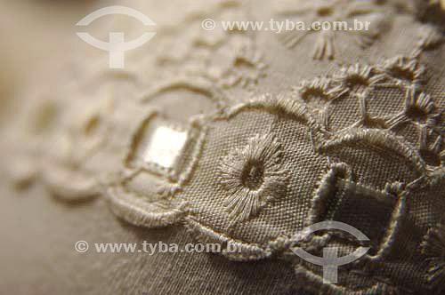 Detalhe de bordado - Fábrica de roupas íntimas femininas - Nova Friburgo - Rio de Janeiro - BrasilData: 25/11/2006.