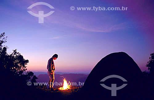 Camping no cume da Pedra Selada - Serra da Mantiqueira - RJ - Brasil  - Resende - Rio de Janeiro - Brasil