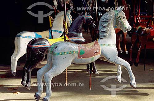 Detalhe de Carrossel - Cavalo