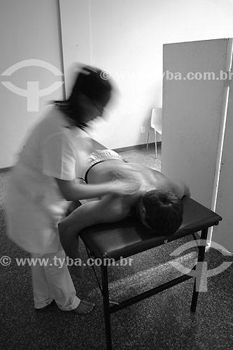 Massagem de shiatsu