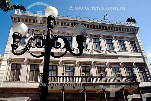 Fachada interna do Palácio do Catete, também conhecido como Museu da República - Catete - Rio de Janeiro - RJ - Brasil. Data: 2003  O Palácio abriga também o Museu do Folclore Edson Carneiro e é Patrimônio Histórico Nacional desde 06-04-1938.