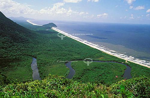 Praia - Estação Ecológica Juréia-Itatins - Mata Atlântica - SP - Brasil / Data: 2007
