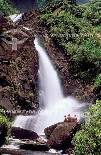 Cachoeira na Trilha do Ouro - Parque Nacional da Serra da Bocaina - SP - Brasil  - São José do Barreiro - São Paulo - Brasil