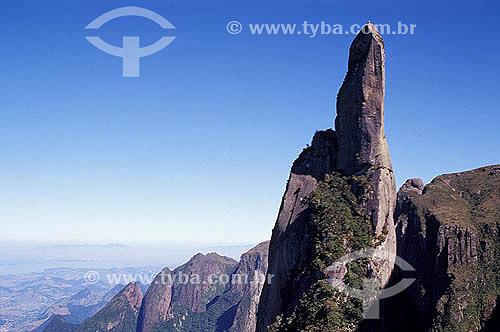 Agulha do Diabo - Parque Nacional da Serra dos Órgãos - Teresópolis -  Rio de Janeiro - Maio 1997  - Teresópolis - Rio de Janeiro - Brasil