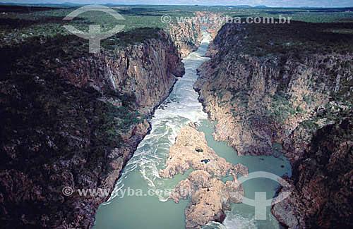 Cânion do Rio São Francisco entre as hidrelétricas de Paulo Afonso e Xingó - Caatinga - Brasil