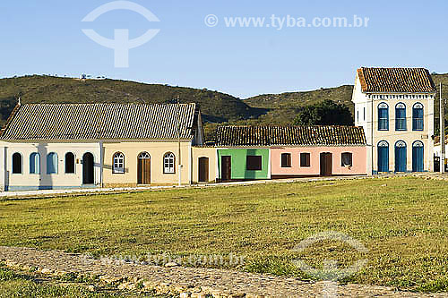 Detalhe de casarios na cidade de Rio de Contas  - Rio de Contas - Bahia (BA) - Brasil
