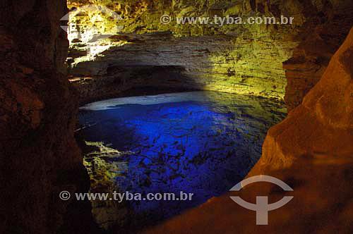 Poço Encantado - Chapada Diamantina - Bahia - Brasil - Janeiro 2006  - Bahia - Brasil