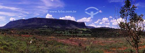 Vista de São José do Barreiro - paredões do Parque Nacional da Serra da Canastra - MG - Brasil  - São José do Barreiro - Minas Gerais - Brasil