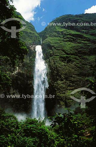 Assunto: Cachoeira Casca Danta  / Local: Distrito São José do Barreiro - São Roque de Minas - Minas Gerais (MG) - Brasil / Data: 2008