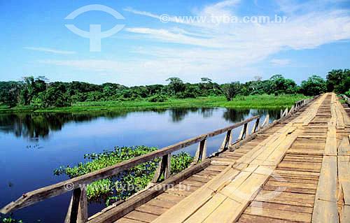 Ponted da Rodovia Transpantaneira -  PARNA do Pantanal Matogrossense  - MT - Brasil  A área é Patrimônio Mundial pela UNESCO desde 2000.  - Mato Grosso - Brasil