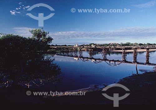 Ponte na Rodovia Transpantaneira - PARNA do Pantanal Matogrossense  - MT - Brasil  A área é Patrimônio Mundial pela UNESCO desde 2000.  - Mato Grosso - Brasil