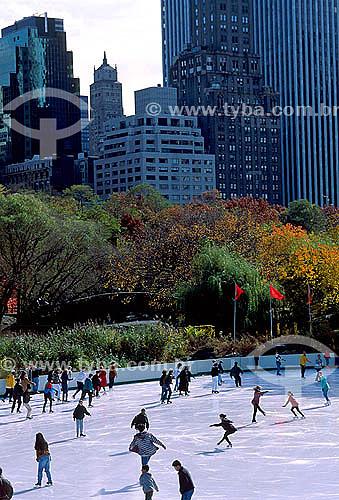 Patinação no gelo - Central Park - Nova York - NY - Estados Unidos