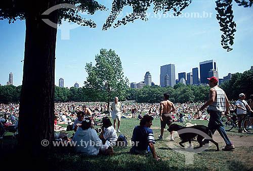 Lazer - Pessoas se divertindo no Central Park - Nova York - NY - Estados Unidos