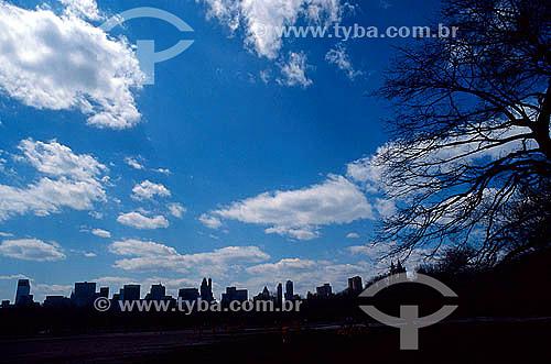 Silhueta do Central Park com prédios ao fundo - Nova York - NY - Estados Unidos