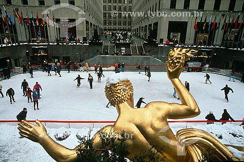 Patinação no gelo - Rockfeller Center - Nova York - NY - Estados Unidos