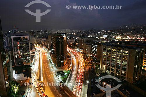 Vista noturna de Caracas - Venezuela - Dezembro de 2007