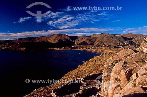 Morro Calvário, Lago Titicaca - Copacabana - Bolivia - Julho de 2000