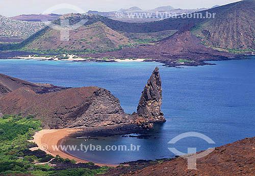 Rochas vulcânicas do arquipélago de Galápagos - Equador