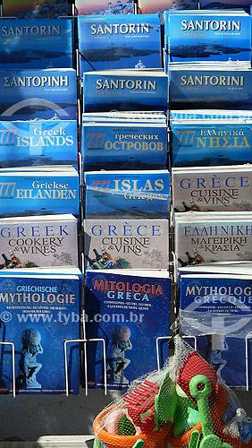 Publicações turísticas - Guias turísticos - Comércio - Santorini - Grécia - Outubro de 2007