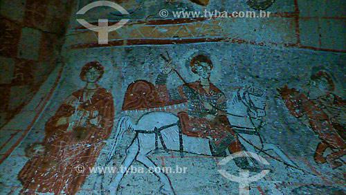 Interior do Museu Rupestre a céu aberto em Goreme - Capadócia - Turquia - Outubro de 2007