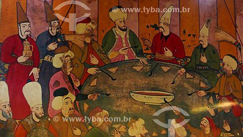 Painel da sala de jantar - Palácio Topikapi - (1475) - Estilo Cássico Otomano - Istambul - Turquia - Outubro de 2007