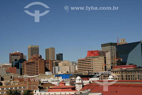 Vista de Joanesburgo, parte nova da Cidade, no lado direito da foto vemos o