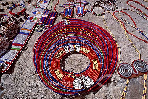 Ornamentação - Tribo Masai perto de Nogorongoro Área - Tanzânia - África