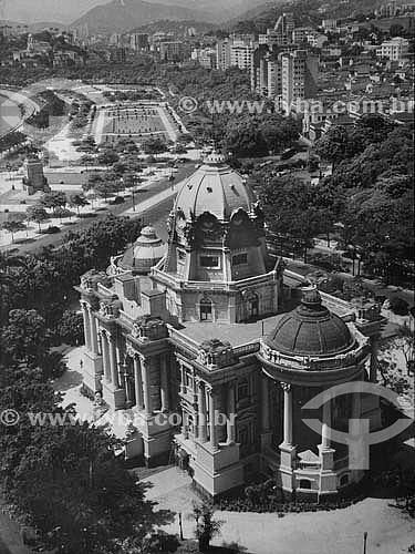 REPRODUÇÃO - Palácio Monroe - Demolido em 1976 - Cinelândia - Centro do Rio de Janeiro - RJ - Brasil  - Rio de Janeiro - Rio de Janeiro - Brasil