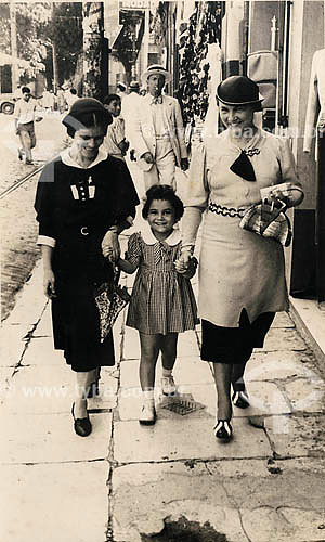 Moda - Anos 30 - Belém - Pará Acervo: Maria Evangelina Rodrigues de Almeida  - Belém - Pará - Brasil