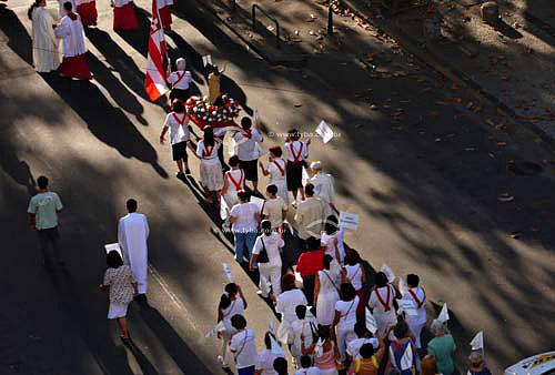 Procissão de Domingo de Páscoa na Igreja da Ressureição.Abr/2007 - Arpoador - RJ  - Rio de Janeiro - Rio de Janeiro - Brasil