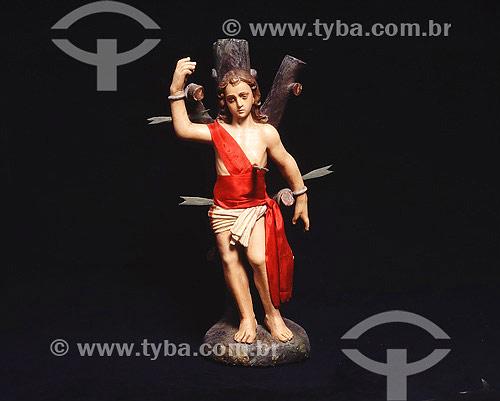 Imagem de São Sebastião, santo padroeiro do Rio de Janeiro - Religião - RJ - Brasil  - Rio de Janeiro - Rio de Janeiro - Brasil