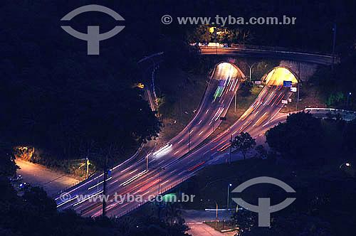 Vista do Túnel Rebouças - Cosme Velho - Rio de Janeiro - RJ - Brasil  - Rio de Janeiro - Rio de Janeiro - Brasil