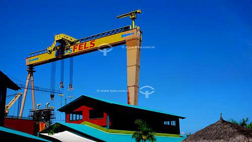 Equipamento pesado (Ponte Rolante) Estaleiro Verolme - Angra dos Reis - RJ - BrasilAbr/2007  - Angra dos Reis - Rio de Janeiro - Brasil