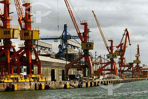 Porto em Recife - Pernambuco - Brasil - Outubro de 2006  - Recife - Pernambuco - Brasil