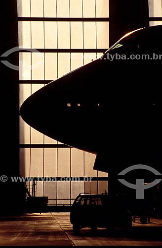 Avião no hangar - Frankfurt - Alemanha