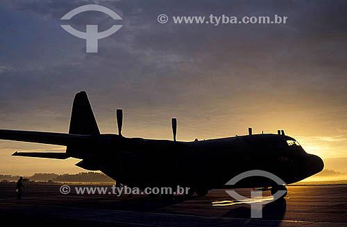 Avião Hércules C-130 da FAB - Pelotas - Rio Grande do Sul - Brasil Janeiro 1999   - Pelotas - Rio Grande do Sul - Brasil
