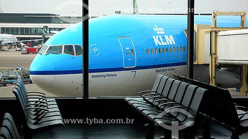 Sala de embarque - Aeroporto de Amsterdã - Holanda - Novembro de 2007